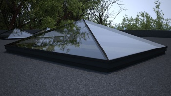 Flat Rooflight 2000 x 1000 PPC Black
